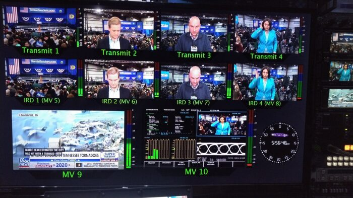 Pool cameras transmitted through a DCI satellite truck
