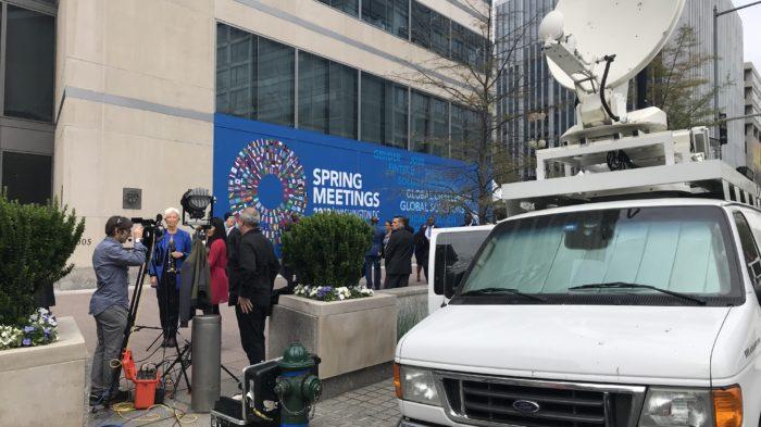 Satellite truck in DC