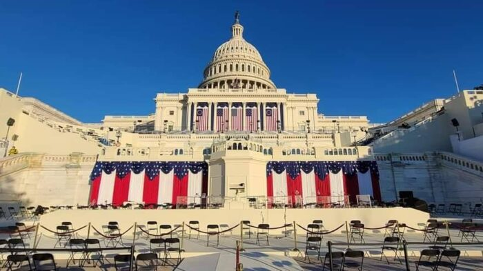 Inauguration day at the capitol